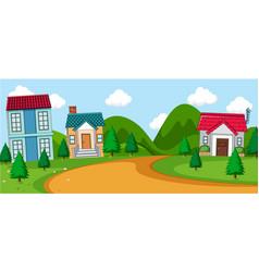 a rural village scene vector image