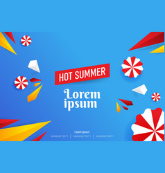 abstract hot summer sale background vector image