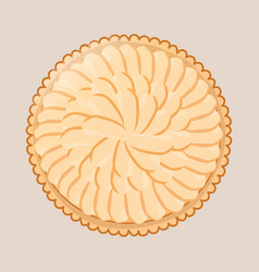 apple pie on a beige background vector image