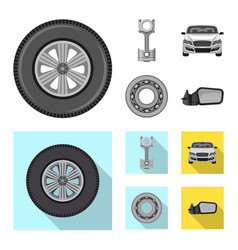 auto and part icon vector image
