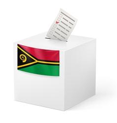 Ballot box with voting paper vanuatu vector