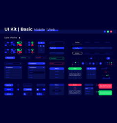 Basic ui elements kit vector