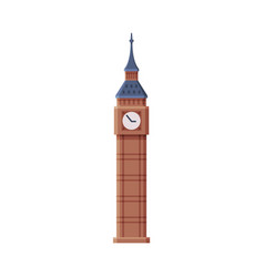 Big ben tower clock as famous city landmark and vector