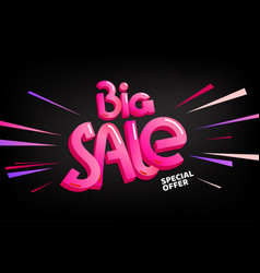 big sale special offer lettering banner vector image