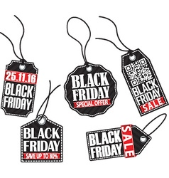 Black friday tag set vector image