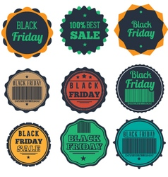 Black friday typography set vector