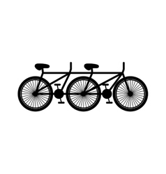Black silhouette polycycle with pedals vector