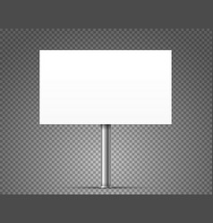Blank urban advertising banner mockup isolated on vector