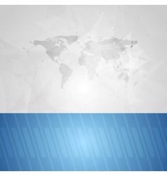 Blue grey technology background vector