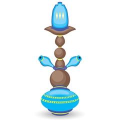 Blue Hookah vector image