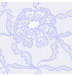 Blue lace fabric seamless pattern vector