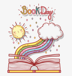 book literature day to learn and study vector image