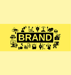 brand team work concept banner simple style vector image
