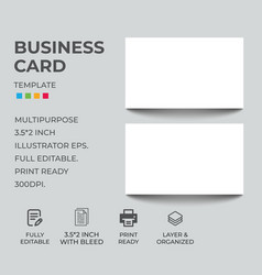 Business card mock up template vector