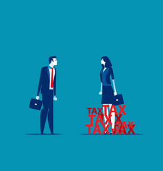Business worker surrounded tax concept vector