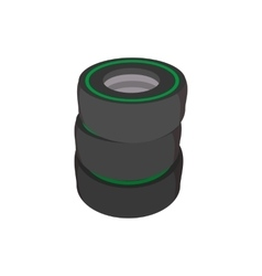 Car tires cartoon icon vector image