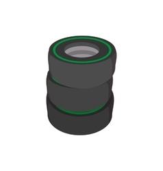 Car tires cartoon icon vector image