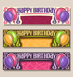 Cards for happy birthday vector