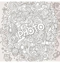 Cartoon cute doodles hand drawn Photo vector image