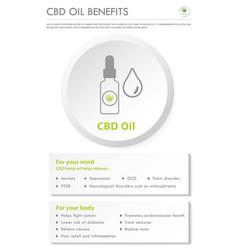 Cbd oil benefits vertical business infographic vector