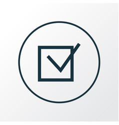 check icon line symbol premium quality isolated vector image