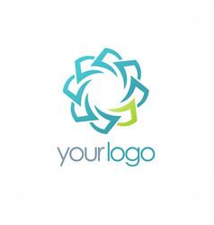 Circle paper logo vector