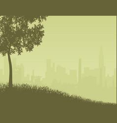city edge vector image