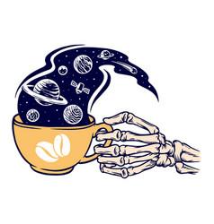 Coffee universe vector