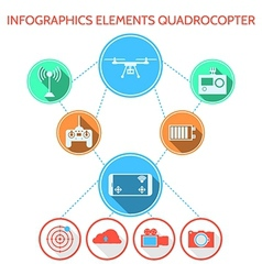 Colored infographic for quadrocopter set vector image