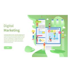 computer screen digital marketing online web page vector image
