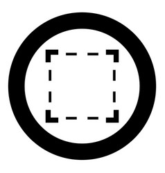 Crop black icon in circle vector