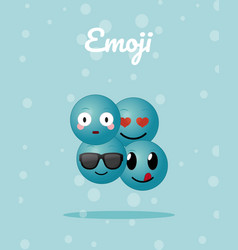 Cute emojis cartoons vector