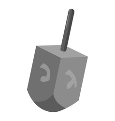 Dreidel for Hanukkah icon gray monochrome style vector