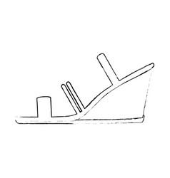 elegant heeled sandals icon vector image