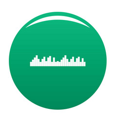 Equalizer frequency icon green vector