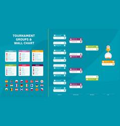 european football 2020 match schedule tournament vector image