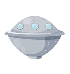 Fantastic spacecraft UFO Cartoon vector