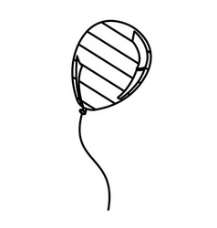 figure balloon with stripes independece day icon vector image