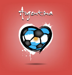 flag of argentina in the form of a heart vector image