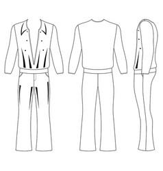 Flare man pants and long sleeve t-shirt vector