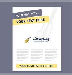 guitar title page design for company profile vector image