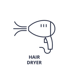 hair dryer line icon concept hair dryer vector image