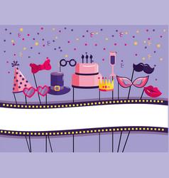 Happy birthday decoration event style vector