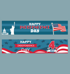 happy independence day 4th july patriotic posters vector image