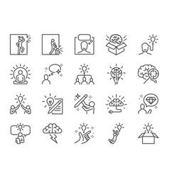 idea line icon set vector image
