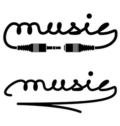 jack connectors music calligraphy vector image