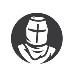 Knight sign crusader helmet simple vector