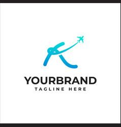 letter k logo or symbol template design vector image