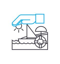 life insurance thin line stroke icon life vector image