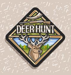Logo for deer hunt vector